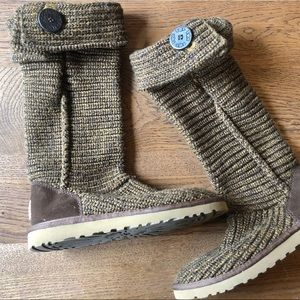 Tall knit button Uggs